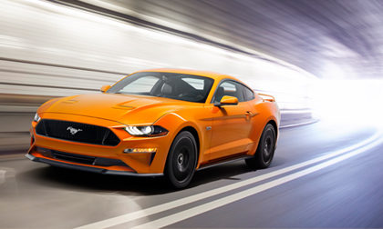 Ford Mustang V8 GT with Performance Pack in Orange Fury