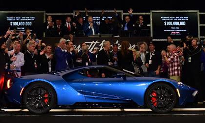 Sale Of  Ford Gt  Ford Mustang Bullitt Raise   Million For Charity At Barrett Jackson