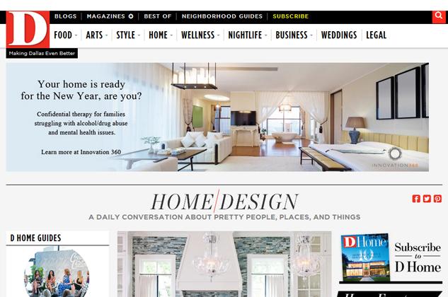 D Home Magazine Website Ad