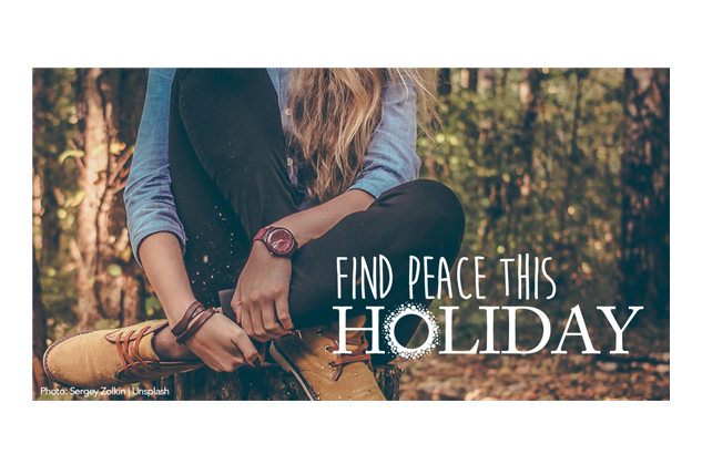 Find Peace This Holiday Facebook ad