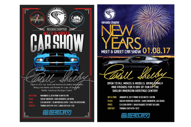 Team Shelby Event Flyers